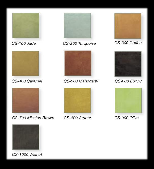 Acidstaincolorchart