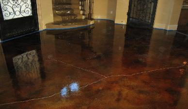 Acid stained concrete flooring concrete fx decorative for How to clean acid stained concrete